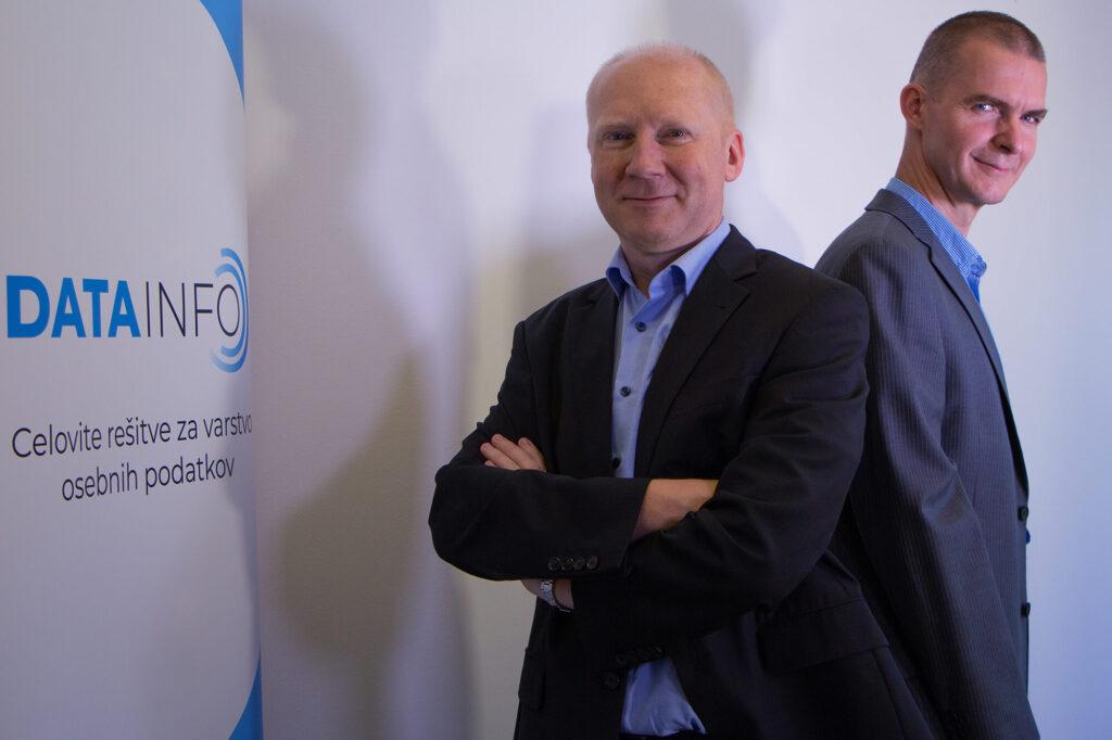 Miroslav Ekart in dr. Benjamin Lesjak, pooblaščeni osebi za varstvo podatkov v podjetju DATAINFO.SI